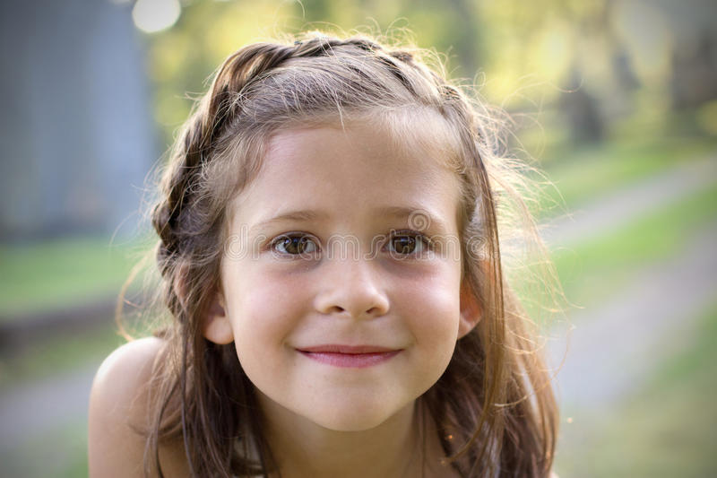 Brown eyed girl stock images