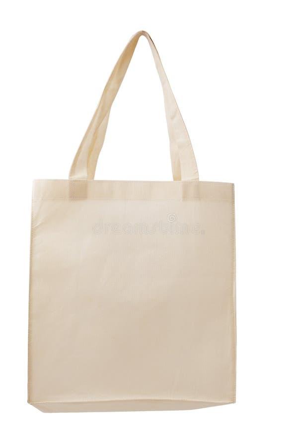 Brown fabric bag stock photo