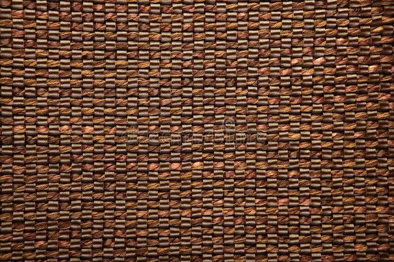 Brown fabric and leather texture background. Pattern royalty free stock images