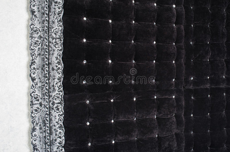 Brown fabric texture of sofa upholstery for background stock image