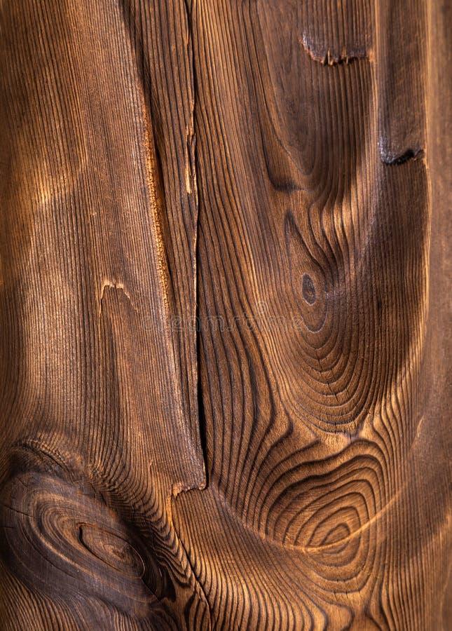 Brown falista drewniana powierzchnia zdjęcia stock