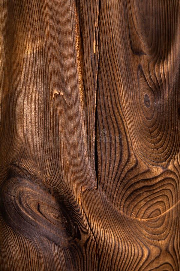 Brown falista drewniana powierzchnia obraz royalty free