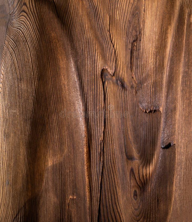 Brown falista drewniana powierzchnia obraz stock