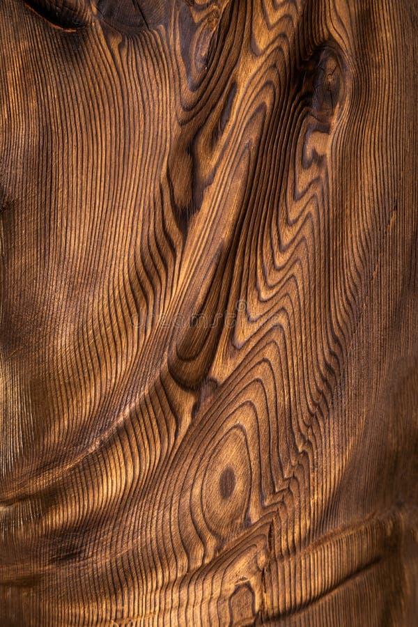Brown falista drewniana powierzchnia obrazy royalty free