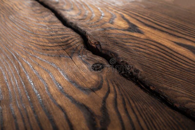 Brown falista drewniana powierzchnia zdjęcie stock