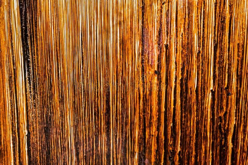 Brown farby wyciek obraz stock