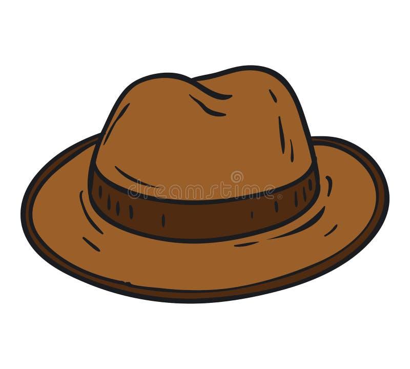 Brown Fedora Hat lizenzfreie abbildung