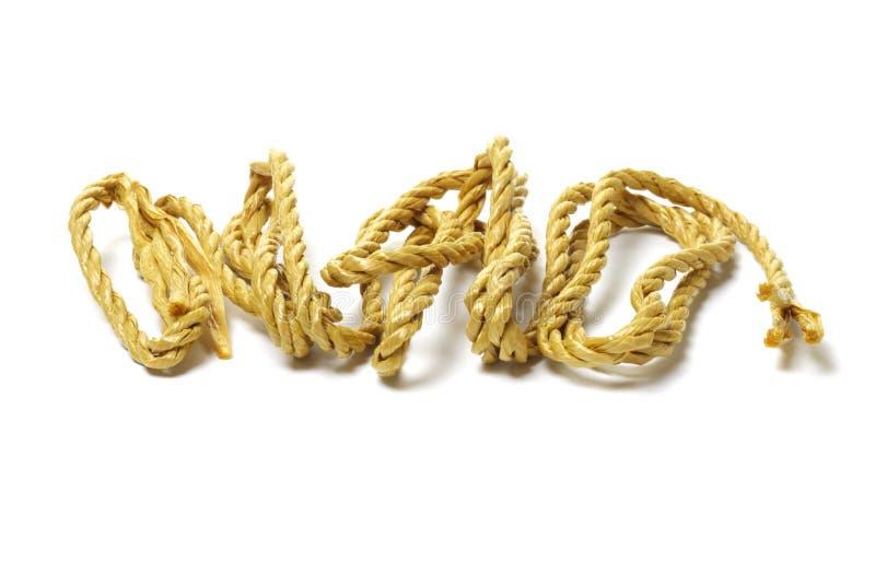 Brown fiber rope