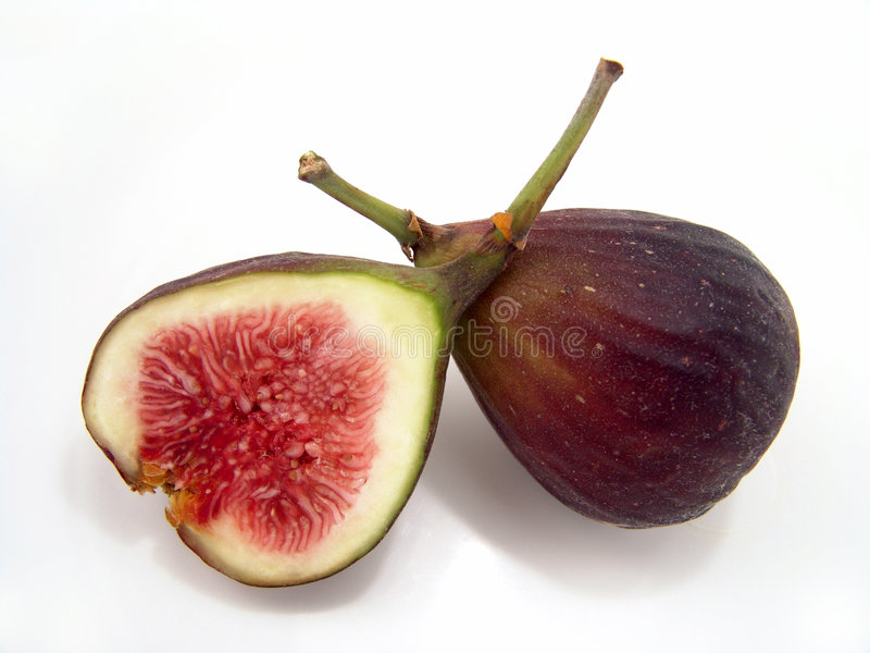 Brown Figs Close Up stock image