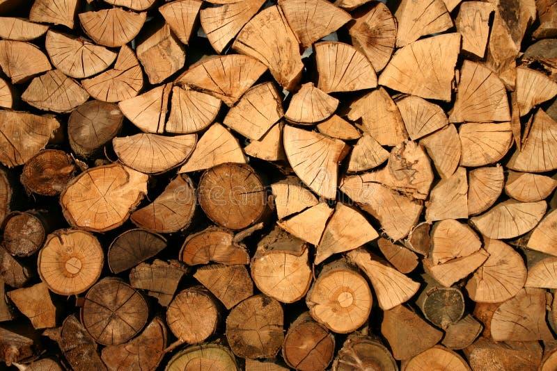 Brown Firewood stock photo