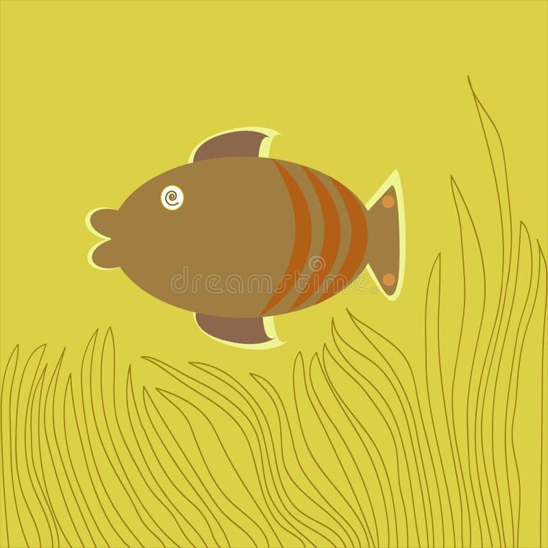 Download Brown Fish-Cartoon stock vector. Image of colors, marine - 22958920