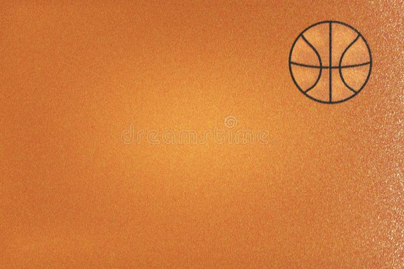 Brown-Flanell oder Basketballgewebe, abstrakter Hintergrund stock abbildung
