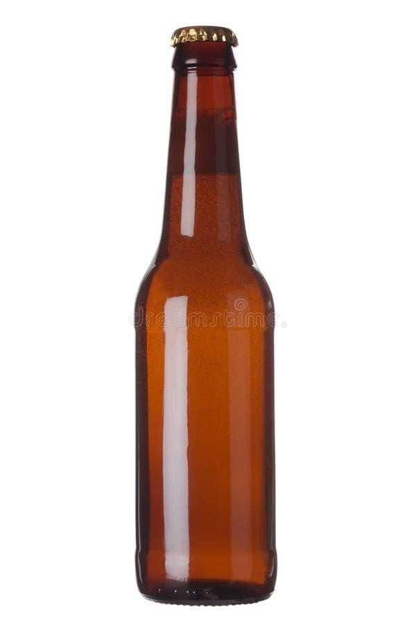Brown-Flasche mit Flüssigkeit lizenzfreie stockbilder