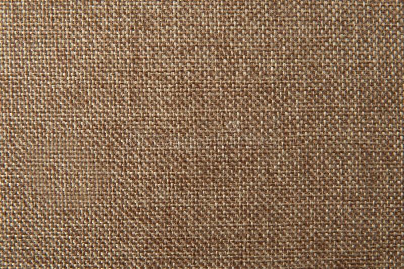 Brown flax cotton fabric texture stock photos