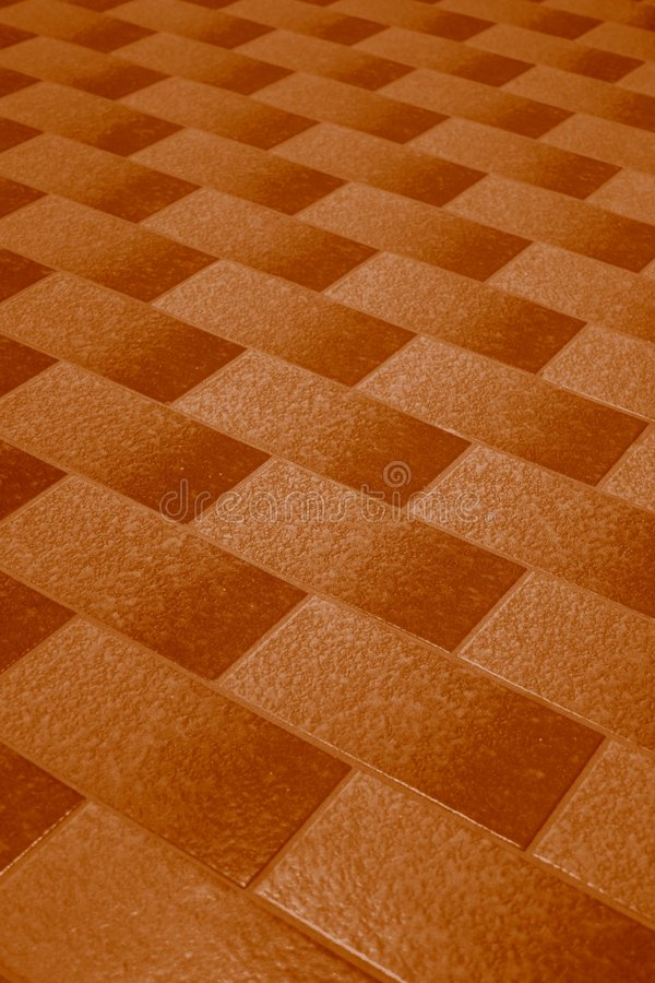 Brown floor tiles stock photos