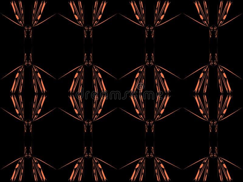 Brown floral ilustración del vector