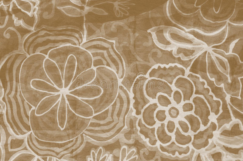 Download Brown Floral Fabric Stock Photo Image Of Texture Bloom