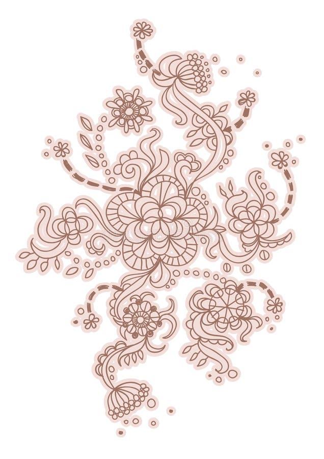 Brown floral pattern.