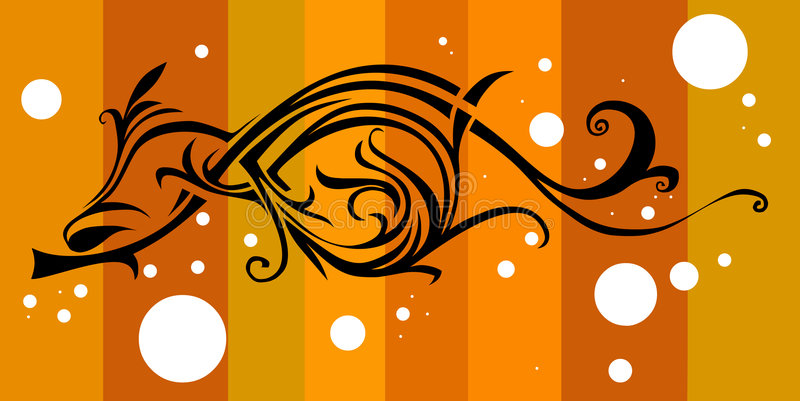 Download Brown Floral Retro Design Stock Image - Image: 989971