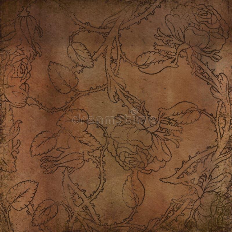 Brown flourish background stock illustration