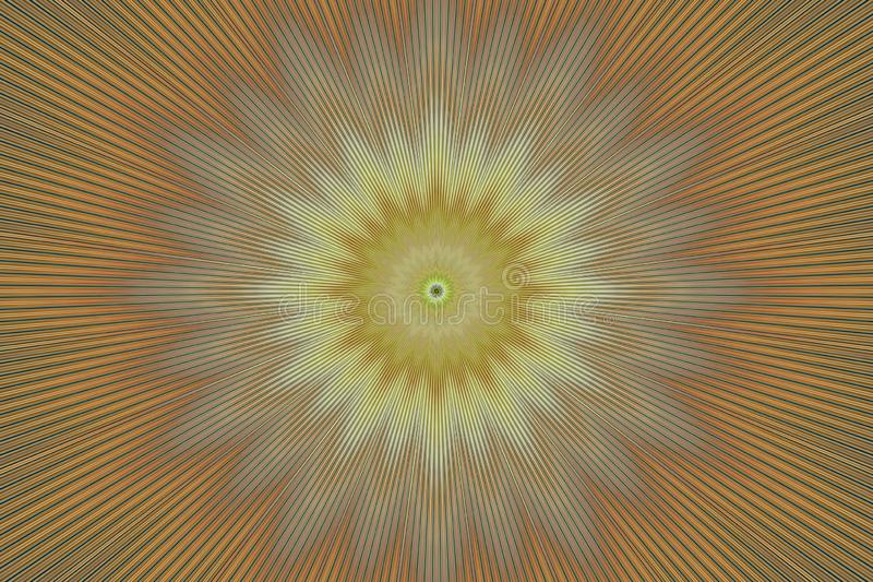 Brown flower pattern floral kaleidoscope. abstract hypnotic stock illustration