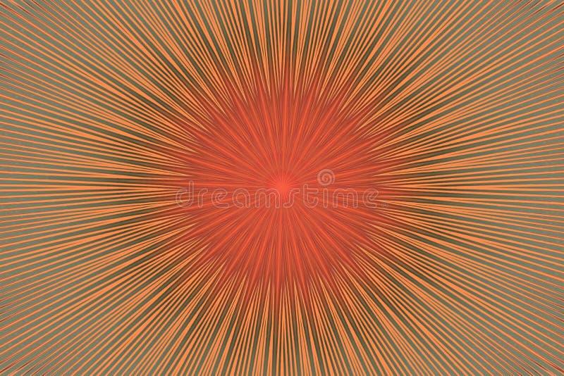 Brown flower pattern floral kaleidoscope. bronze kalamkari stock illustration