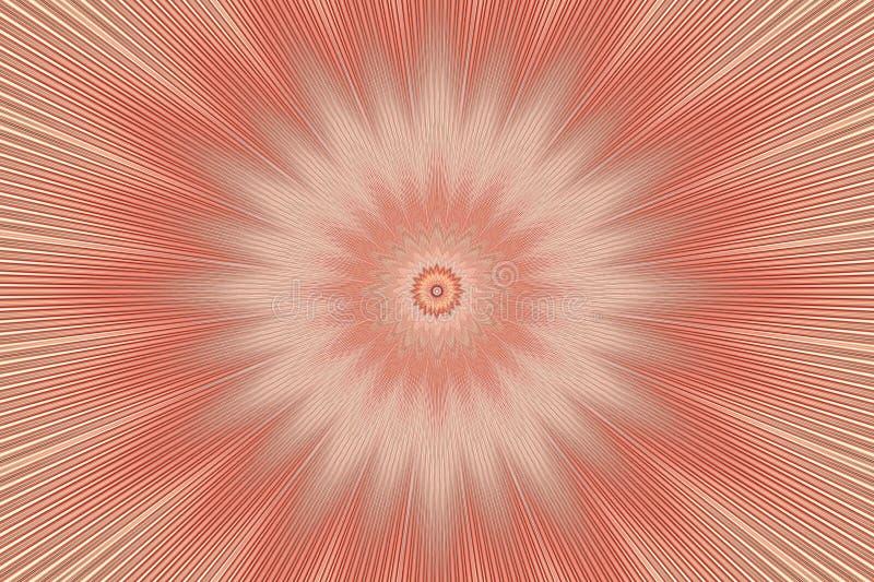 Brown flower pattern floral kaleidoscope. mandala beam vector illustration