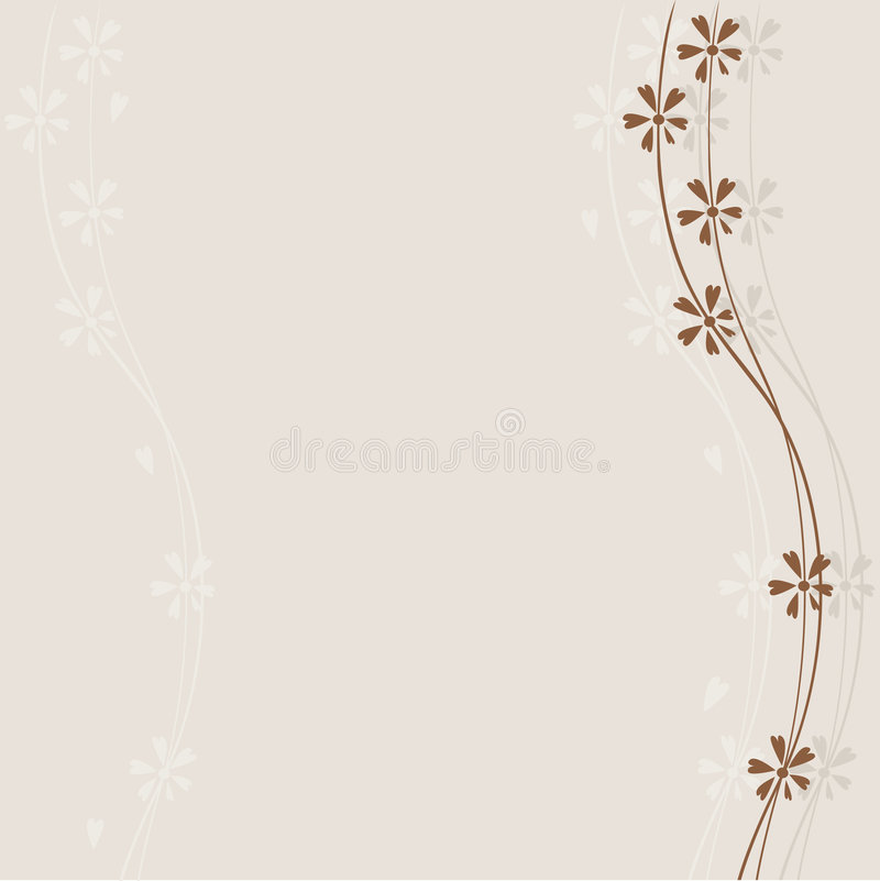 Download Brown flowers stock vector. Illustration of element, foliage - 7654546