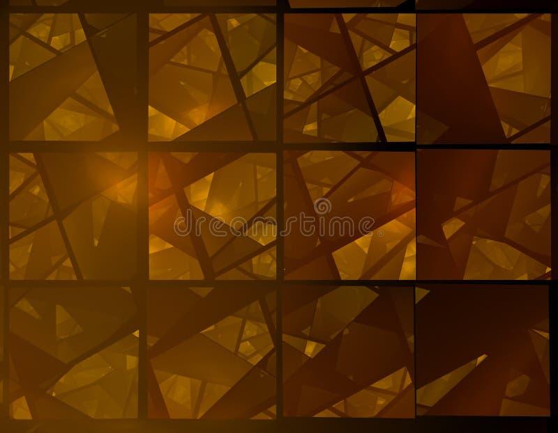 brown fractal oznaczane szkła ilustracja wektor