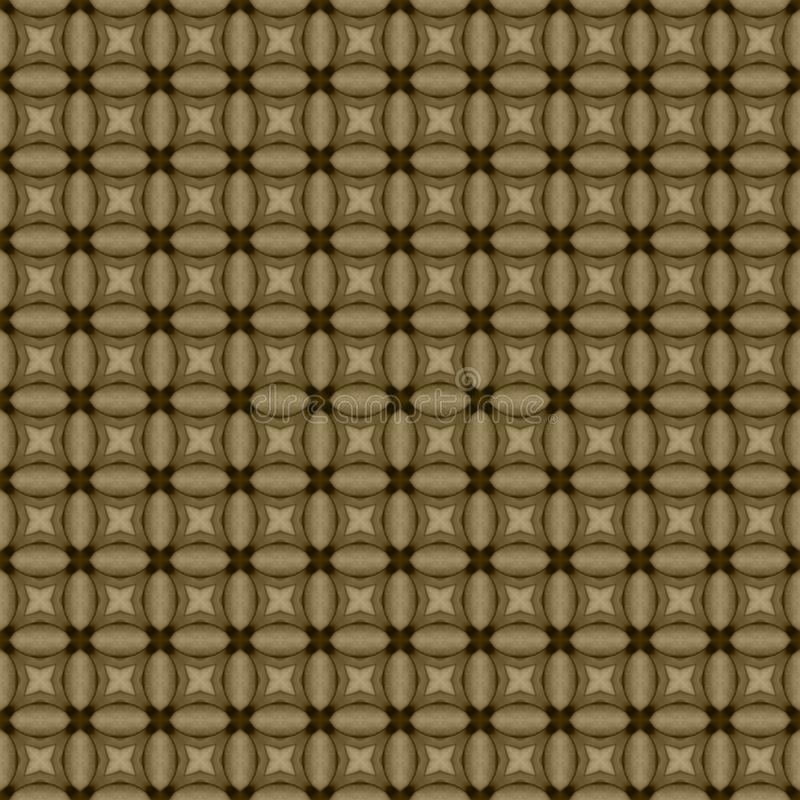 Brown geometric mosaic detailed seamless textured pattern background vector illustration