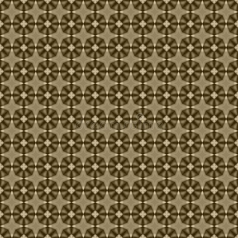Brown geometric mosaic detailed seamless textured pattern background. Brown geometric mosaic detailed seamless and repeat textured pattern background stock illustration