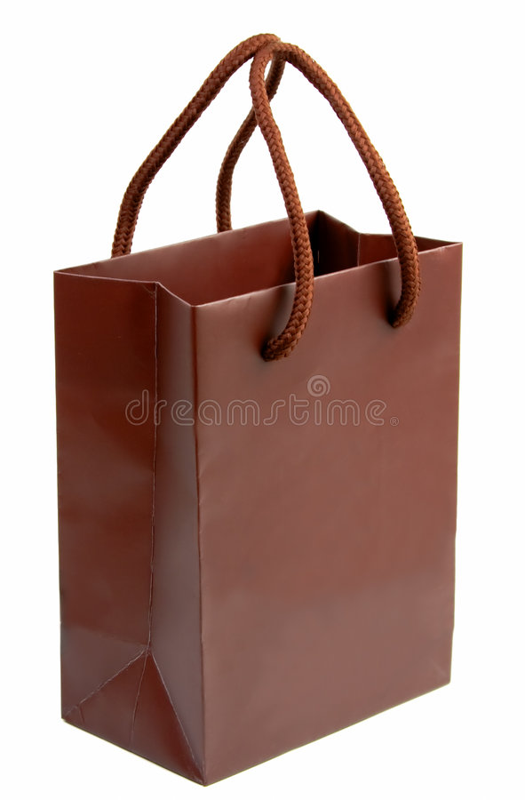 Download Brown gift bag 1 stock photo. Image of shop, sale, festive - 1877522