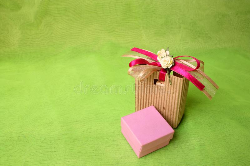 Brown Gift Bag royalty free stock photo