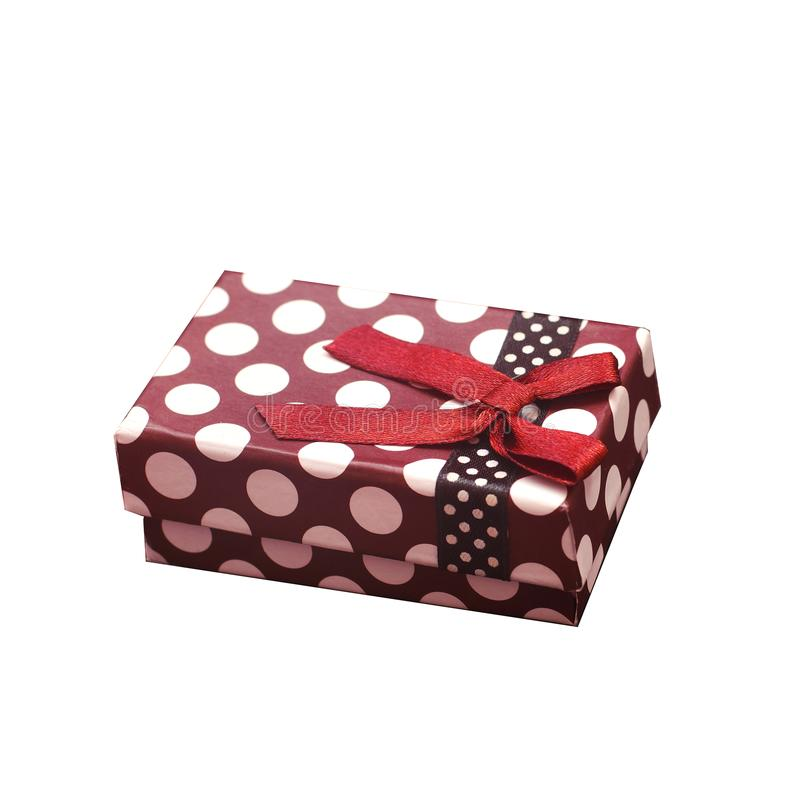 Gift on white background isolate gift box stock photos