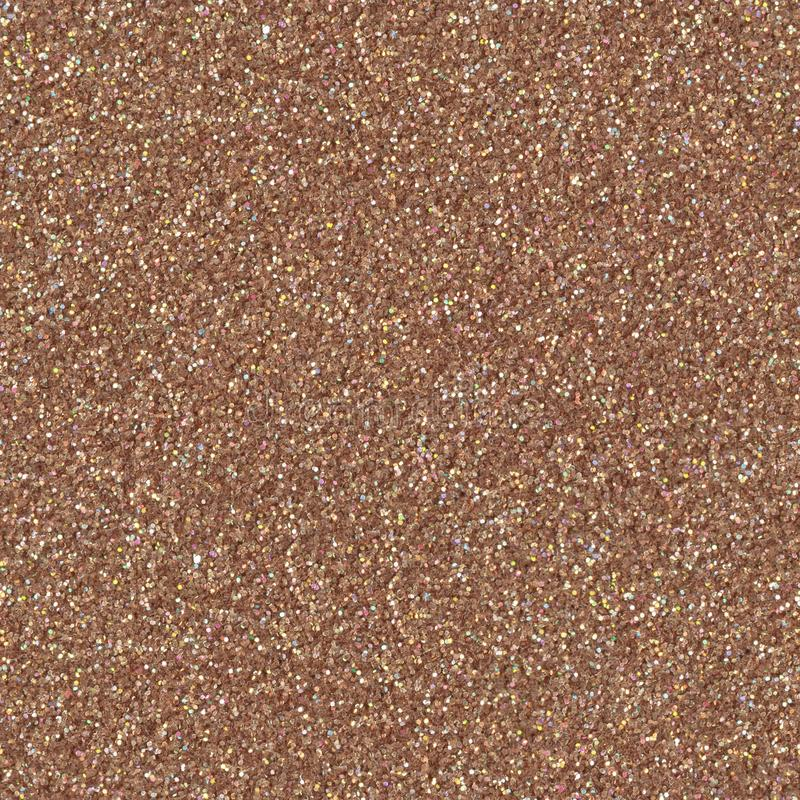 Brown glitter texture christmas abstract background. Low contrast photo. Seamless square texture. Tile ready stock photography