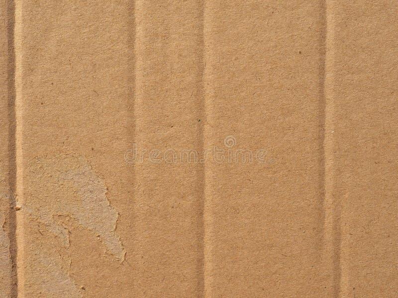 Brown gofrował kartonowego tekstury tło obrazy stock