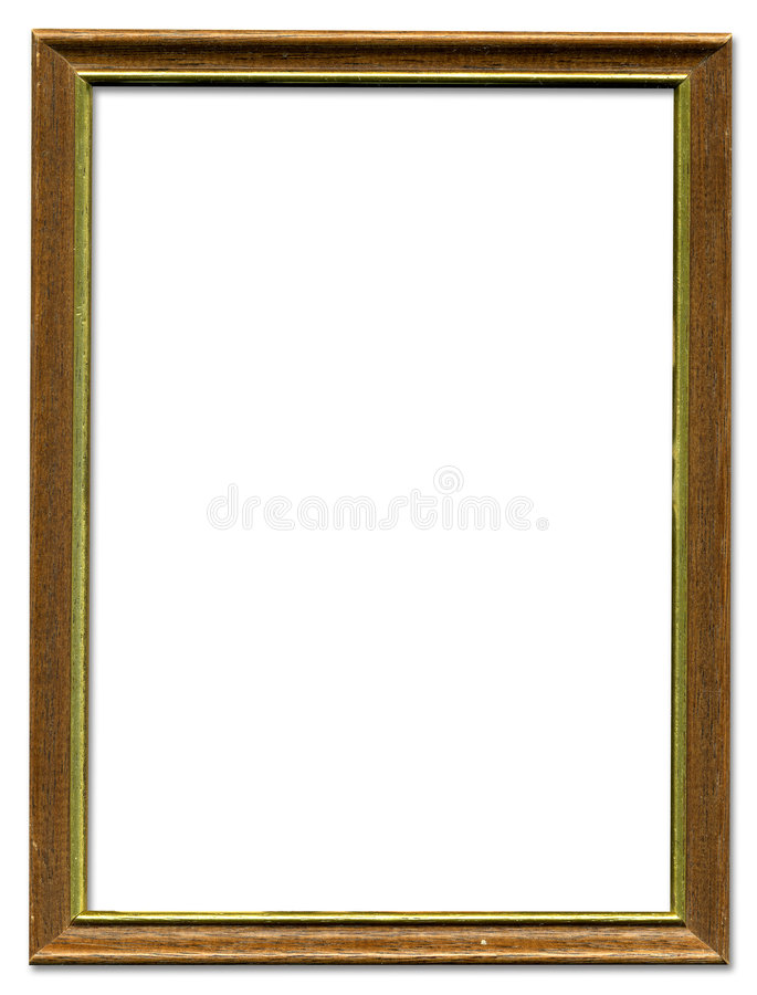 Brown and gold picture frame stock image