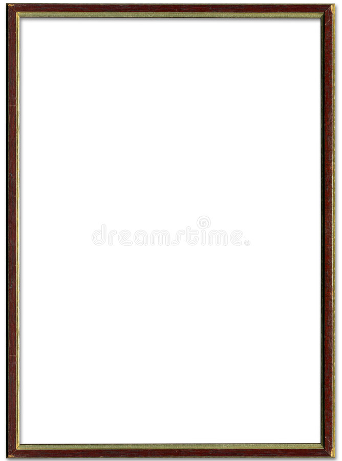 Brown and gold picture frame vector illustration