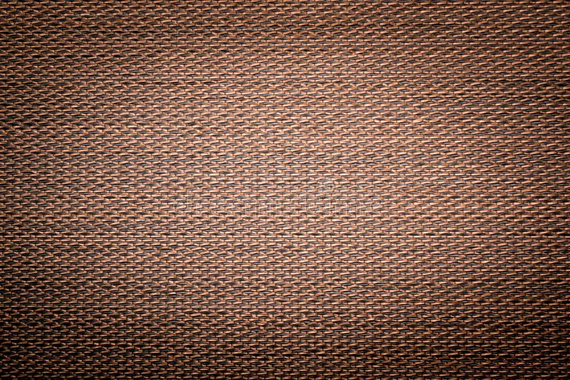 Brown golden abstract grid, mesh pattern, monochrome geometric texture. Brown golden abstract grid, mesh pattern. Net plastic or metallic background stock photo