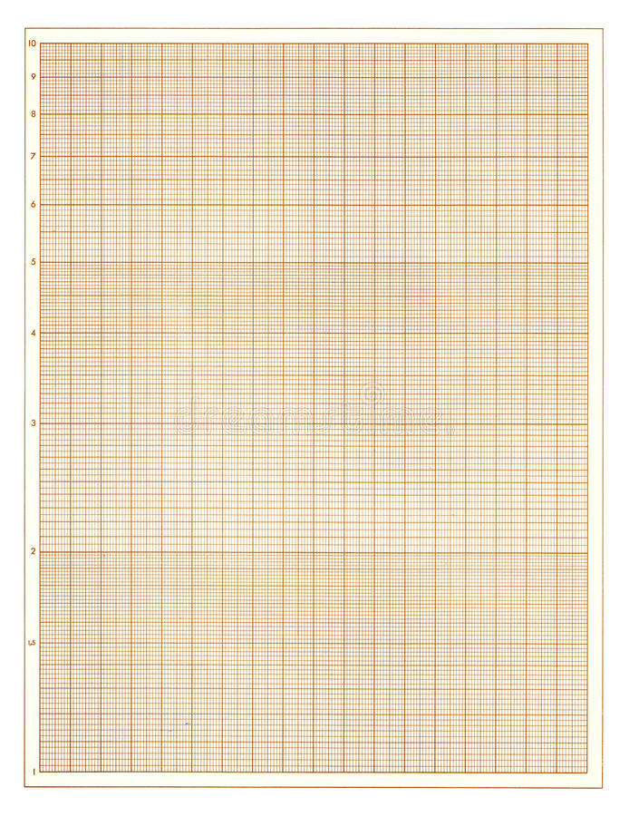 Brown Graph Paper Sheet Stock Illustration Of Blank
