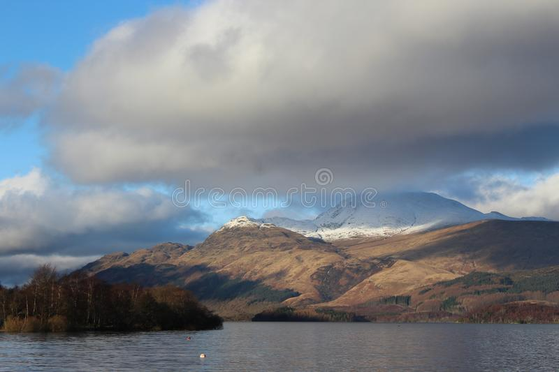 Brown and Gray Mountain Ranges Photography royalty free stock images