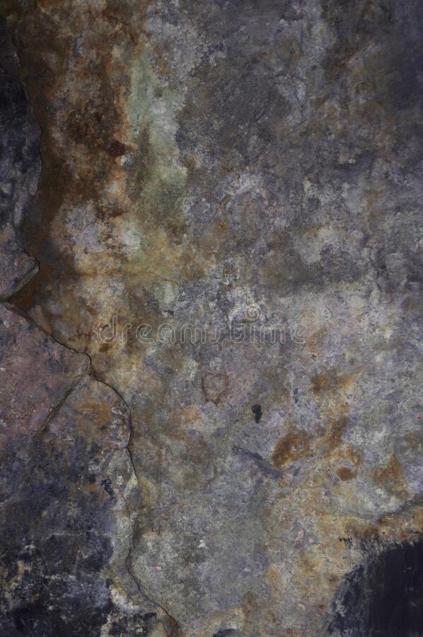 Brown and gray rock wall texture royalty free stock photos