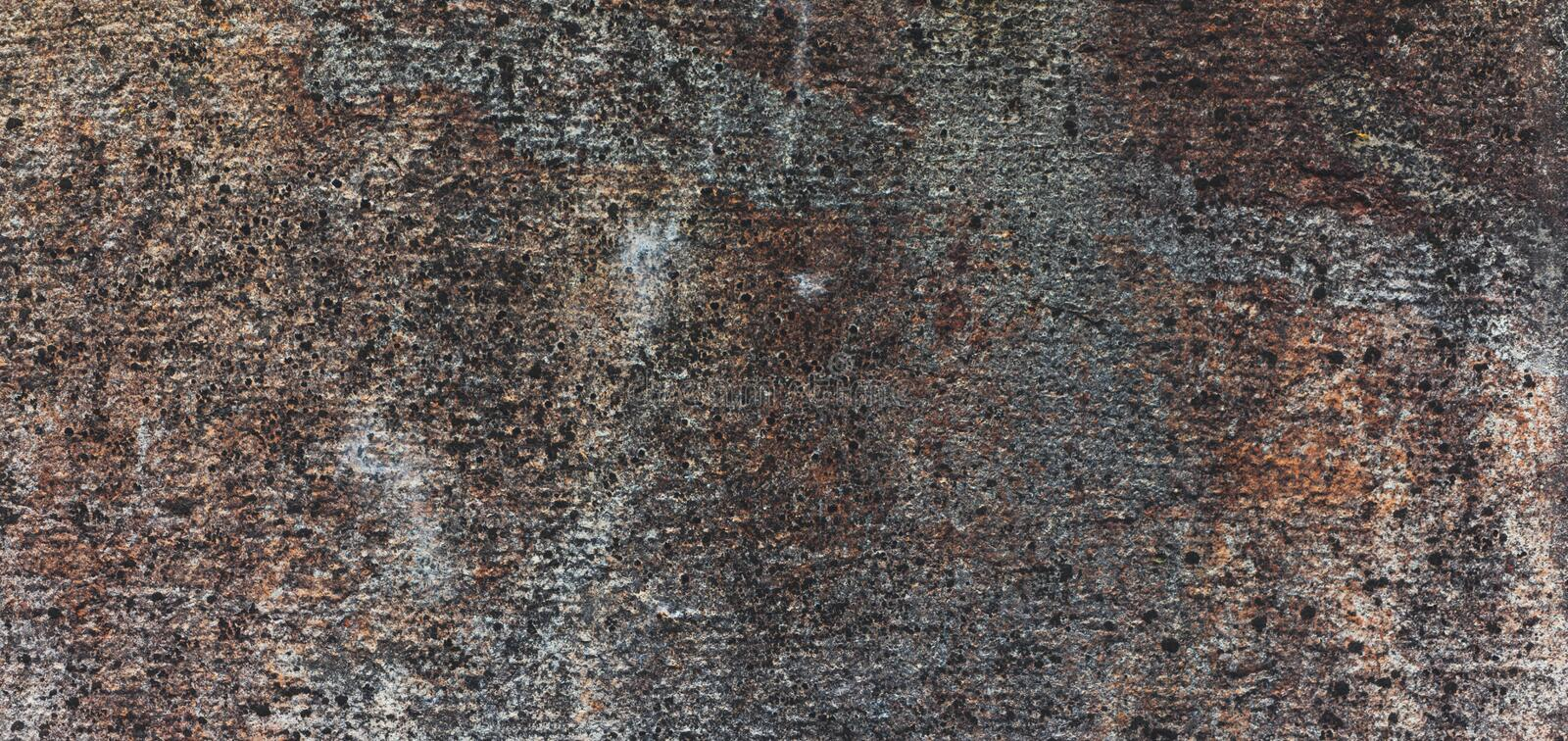 Brown and grey background with concrete texture horizontal top view isolated, vintage dark wood backdrop, old rustic stone board stock image