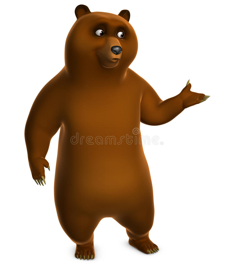 Download Brown grizzly bear stock illustration. Image of isolated - 26839468