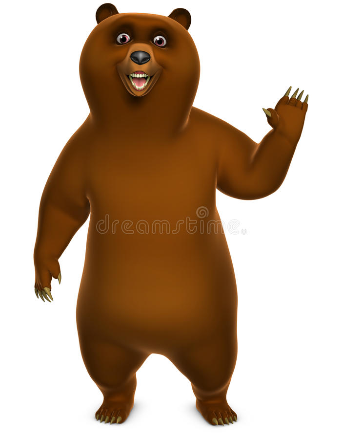 Download Brown grizzly bear stock illustration. Image of furry - 26839472