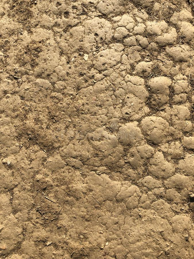 Brown ground crack texture background.  royalty free stock photos