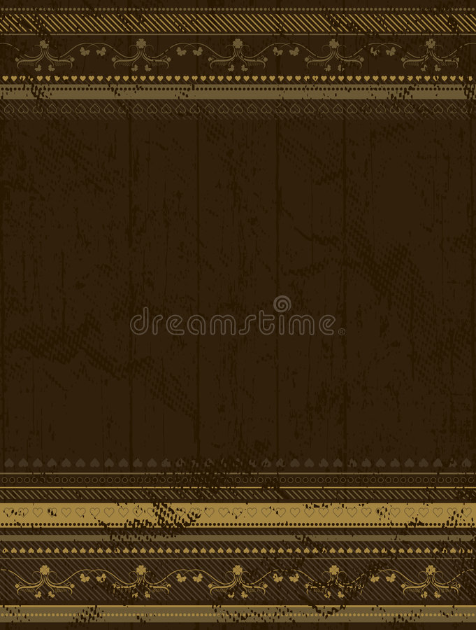 Brown grunge background vector illustration
