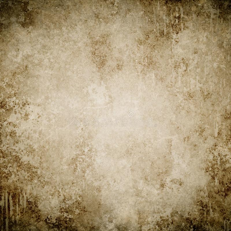 Brown grunge background, paper texture, frame, paint stains,stains, vintage royalty free stock image