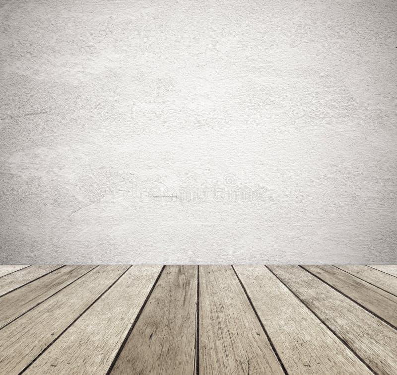 Brown grunge cementu ścienny i perspektywiczny rocznika drewna tło fotografia royalty free