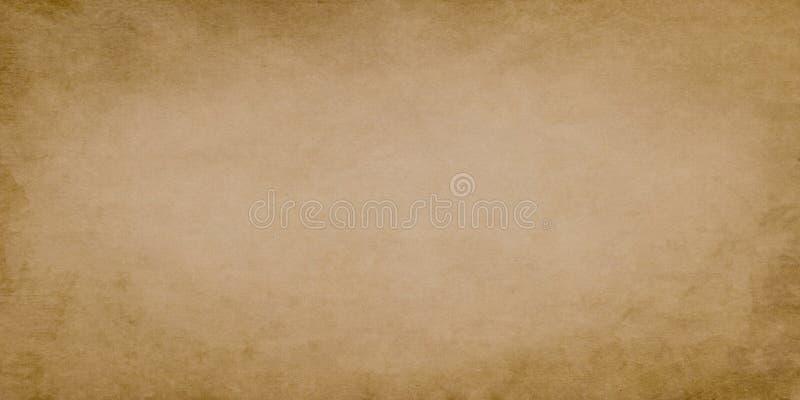Brown grunge rocznika szeroki papier obraz royalty free